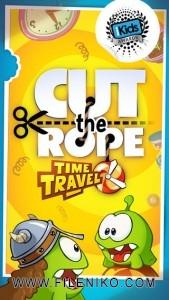 دانلود Cut the Rope Time Travel HD v1.5.2  بازی زیبای طناب را ببر سفر زمان برای اندروید بازی اندروید سرگرمی موبایل