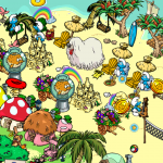 دانلود Smurfs Village 1.44.0 بازی دهکده اسمورف ها اندروید به همراه دیتا و مود استراتژیک بازی اندروید موبایل