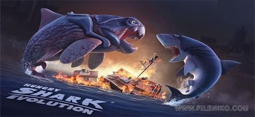 دانلود Hungry Shark Evolution 4.7.0  بازی کوسه گرسنه اندروید + مود