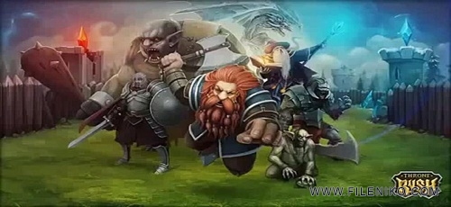 دانلود Throne Rush v4.6.0  یورش تاچ و تخت بازی استراتژیک آنلاین اندروید
