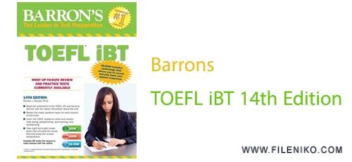دانلود کتاب Barrons TOEFL iBT 14th Edition