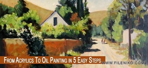 دانلود فیلم آموزش نقاشی از آکریلیک تا روغنی با استفاده از ۵ روش ساده