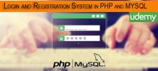Udemy Login and Registration System in PHP and MYSQL step by step