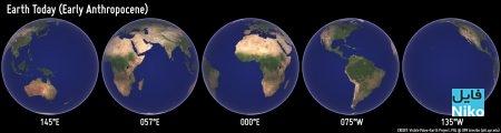 جای قاره های زمین در زمان حال